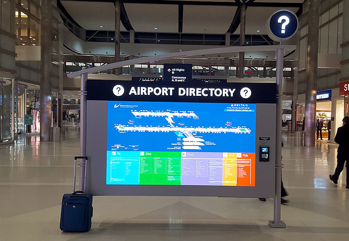 Digital Signage Electronic Video Information Display