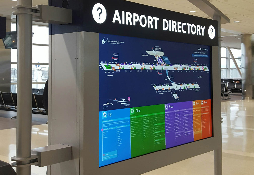 Wayne County Airport Digital Signage Upgrade