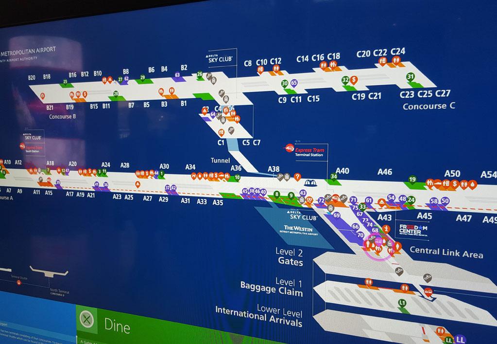 Wayne County Airport Digital Signage Upgrade