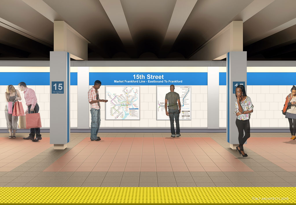 SEPTA 15th Street Platform Rendering
