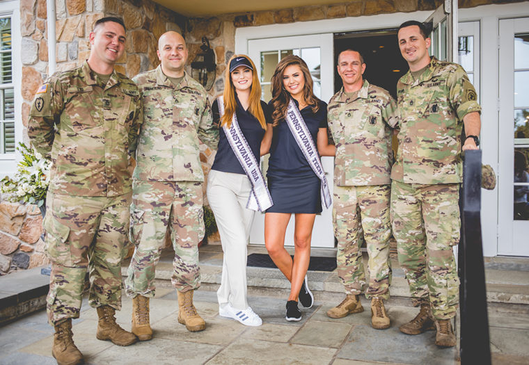 USO_Golf 2017 Army Foursome and Miss PA's