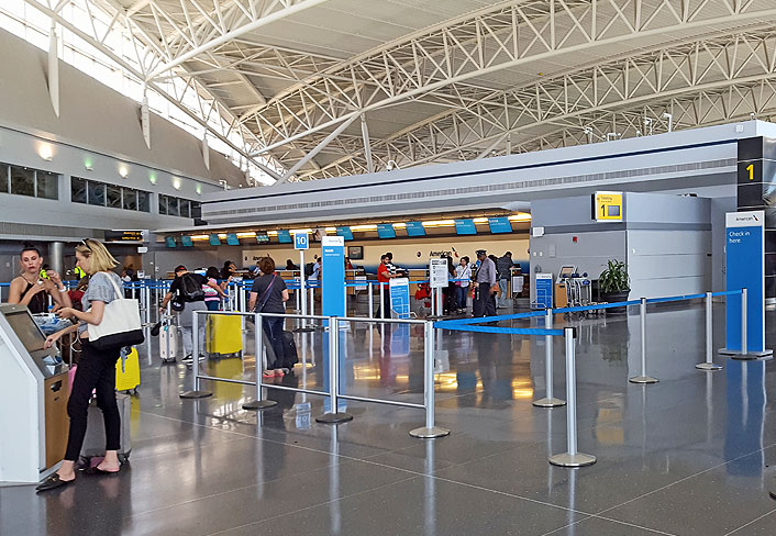 JFK terminal 8 airport ticket office redesign