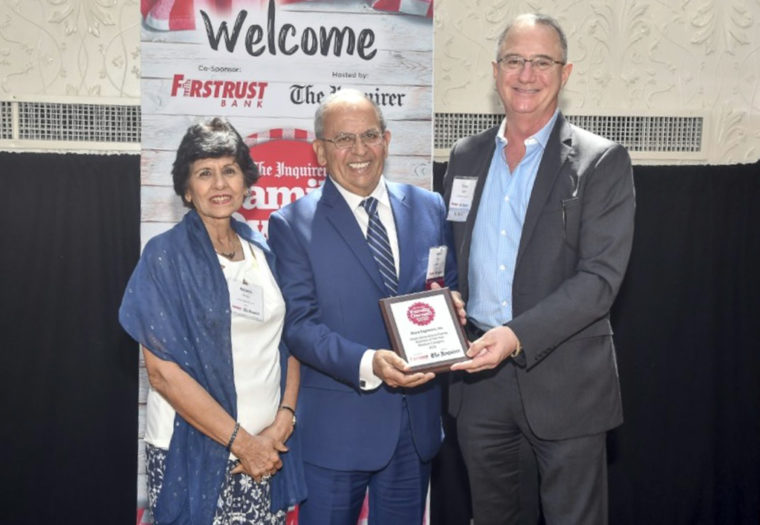 Mike and Adarsh Accepting Award