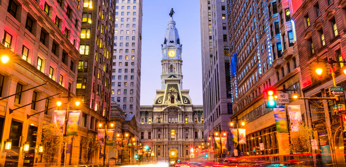 Philadelphia City Hall, Dilworth Plaza, and 15th Street Station