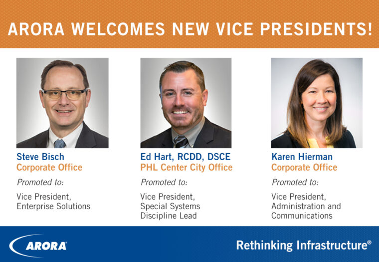 Arora Welcomes New Vice Presidents