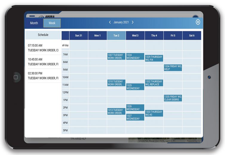 Arora ATLAS Fix Calendar Function on iPad